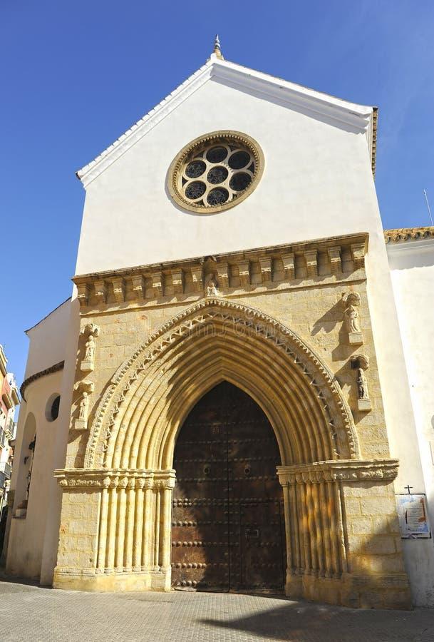 Kyrka av helgonet Catherine i Seville, Andalusia, Spanien arkivfoto