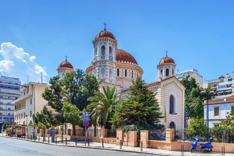 Kyrka av helgonet Gregory Palamas, Thessaloniki, Grekland royaltyfria foton