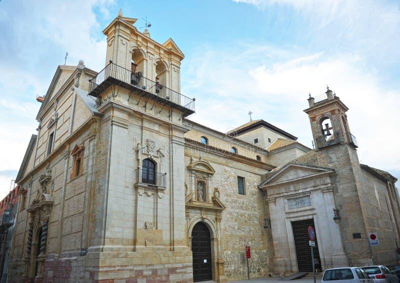 Kyrka av helgonet Peter Martyr i Lucena, landskap av Cordoba, Spanien arkivbild