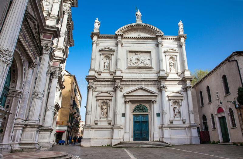 Kyrka av helgonet Roch i Venedig arkivfoton