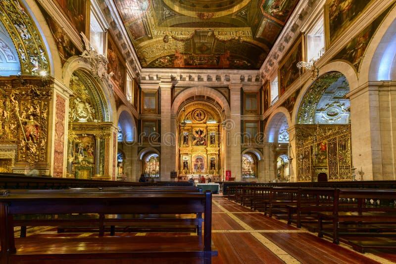 Kyrka av helgonet Roch - Lissabon, Portugal arkivfoton