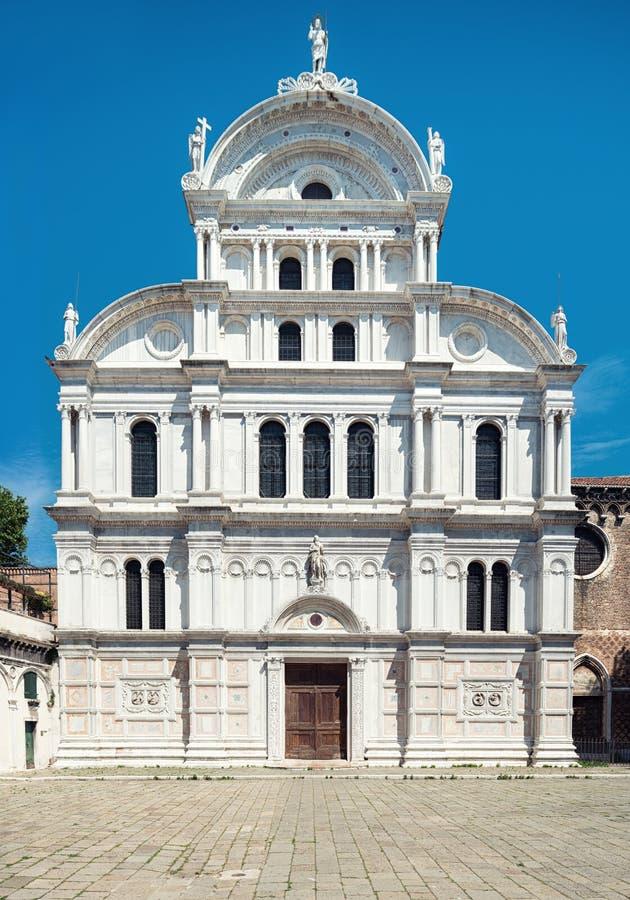 Kyrka av helgonet Zachary i Castello, Venedig, Italien royaltyfri bild