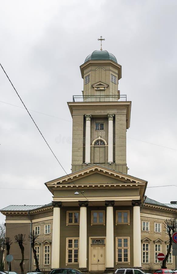 Kyrka av Jesus, Riga fotografering för bildbyråer