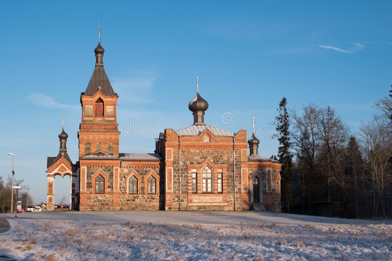 Kyrka av Kohila, Estland royaltyfria foton