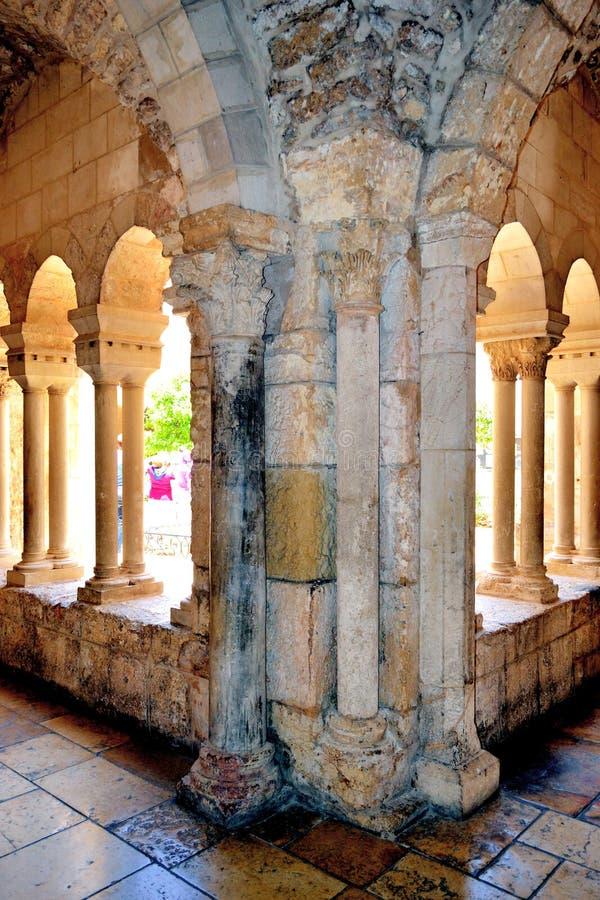 Kyrka av Kristi födelsen i Betlehem, Palestina arkivbilder