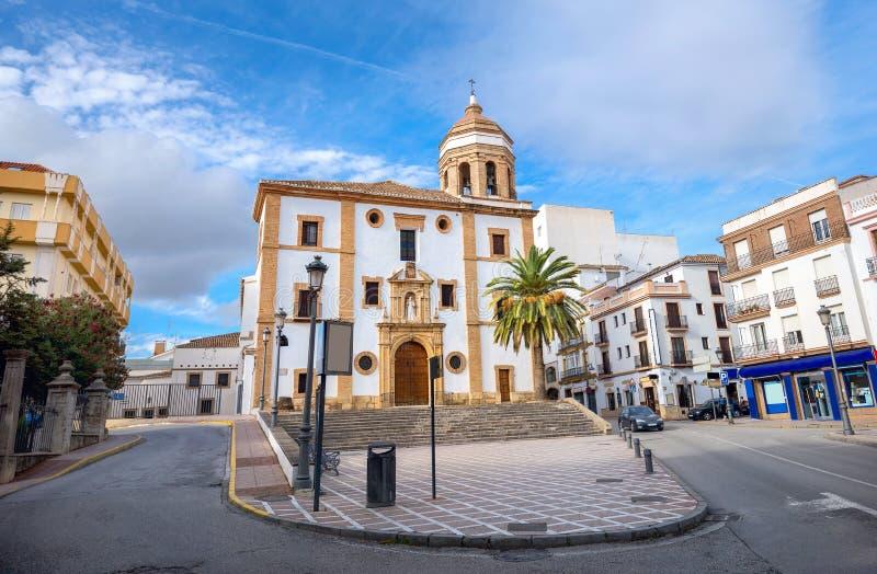 Kyrka av La Merced i Ronda Malaga landskap, Andalusia, Spanien arkivbild