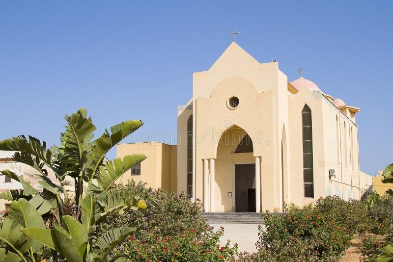 Kyrka av Lampedusa fotografering för bildbyråer