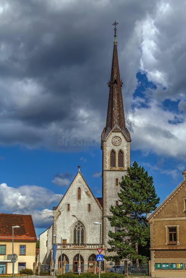 Kyrka av Maria f.m. Waasen, Leoben, Österrike fotografering för bildbyråer