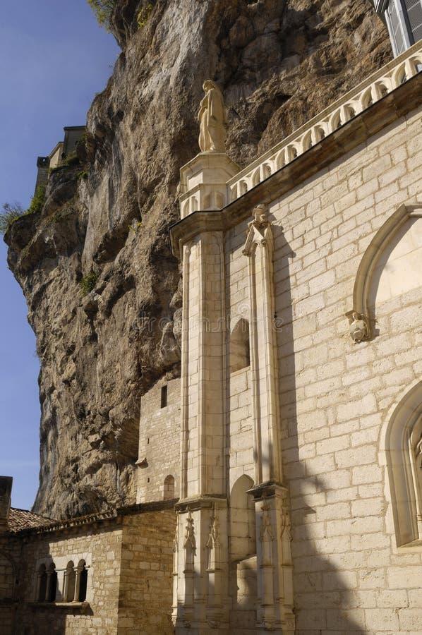 Kyrka av Notre Dame av Rocamadour, royaltyfri fotografi