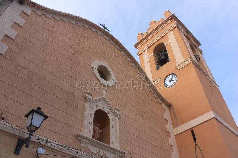 Kyrka av omgestaltningen av Herren i Millares, Valencia royaltyfria foton