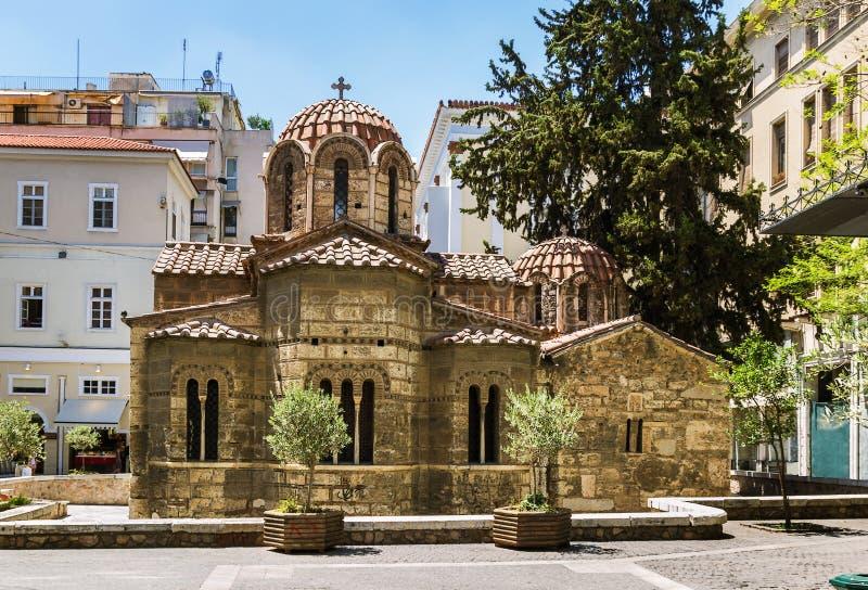 Kyrka av Panaghia Kapnikarea, Aten royaltyfria bilder