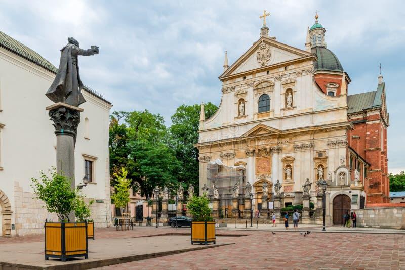 Kyrka av Peter och Paul i den gamla staden av Krakow arkivbilder