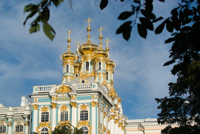 Kyrka av Peterhofen royaltyfria foton