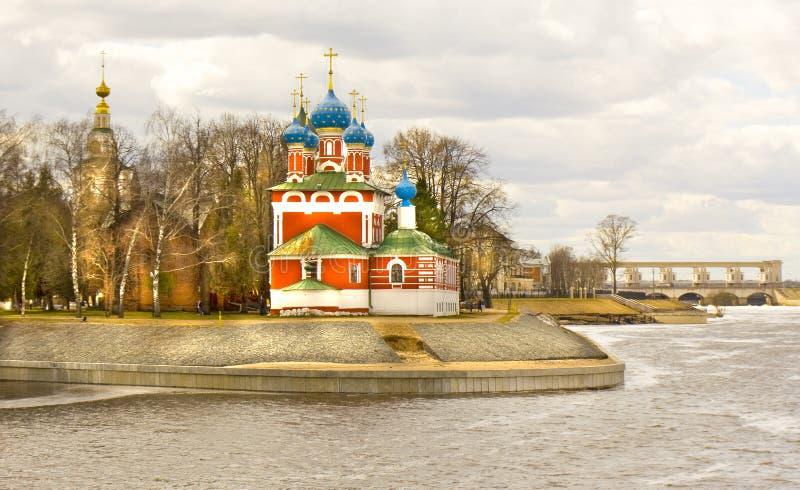 Kyrka av prinsen Dmitry på blod, Uglich fotografering för bildbyråer