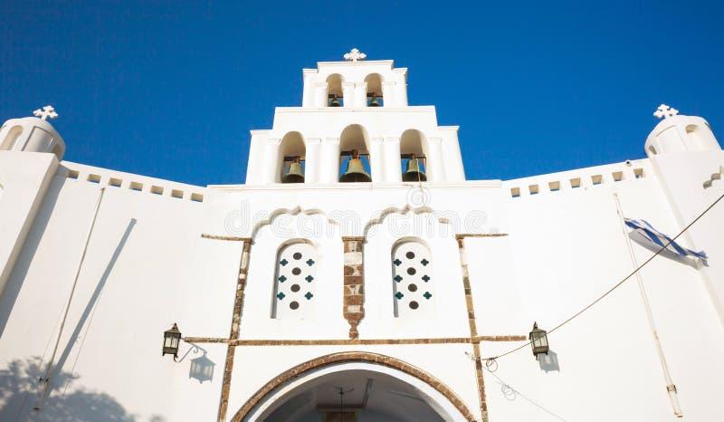 Kyrka av Pyrgos Kallistis arkivbilder