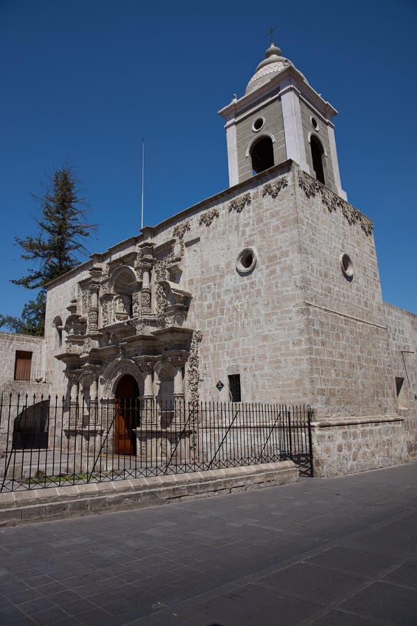Kyrka av San Agustin i Arequipa royaltyfria foton