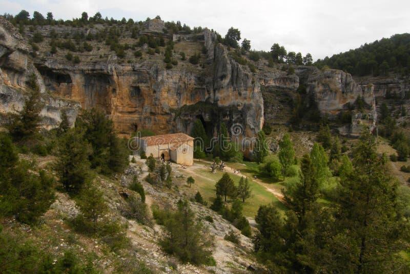 Kyrka av San Bartolomé, Soria, Spanien royaltyfria bilder