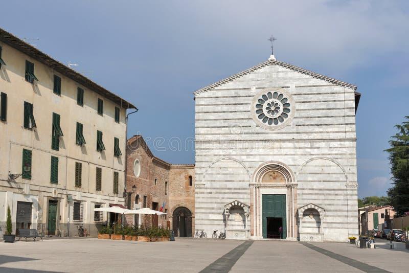 Kyrka av San Francesco, Lucca, Italien fotografering för bildbyråer