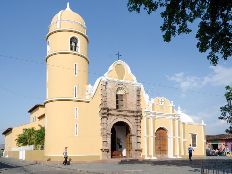 Kyrka av San Francisco de Yare, Venezuela arkivbilder