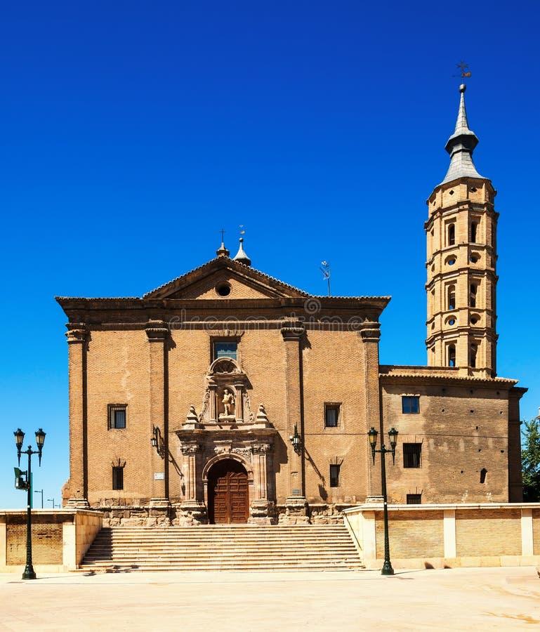 Kyrka av San Juan de los Panetes i Zaragoza arkivbilder