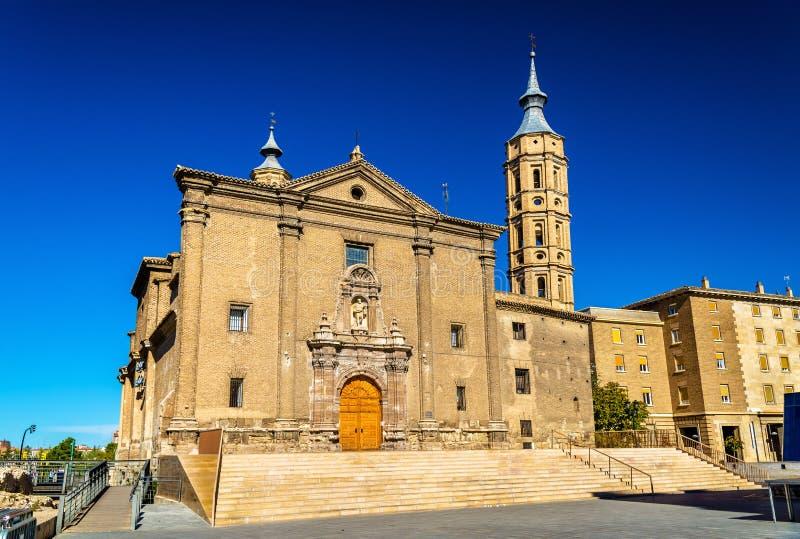 Kyrka av San Juan de los Panetes i Zaragoza , Spanien royaltyfri fotografi