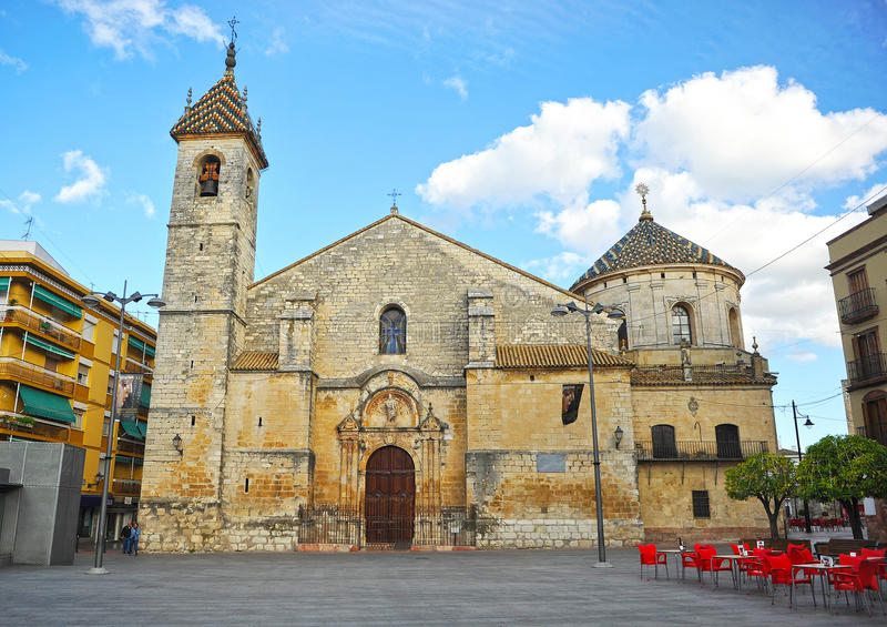 Kyrka av San Mateo i Lucena, Cordoba landskap, Andalusia, Spanien arkivbilder