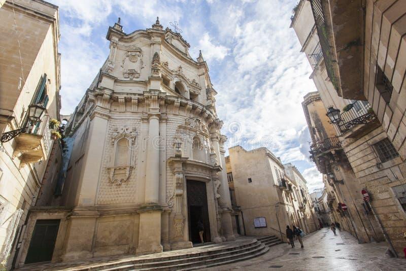 Kyrka av San Matteo i Lecce, huvudstad av barocken royaltyfri foto