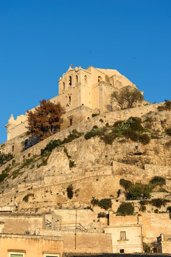 Kyrka av San Matteo - Scicli Sicilien Italien arkivfoto
