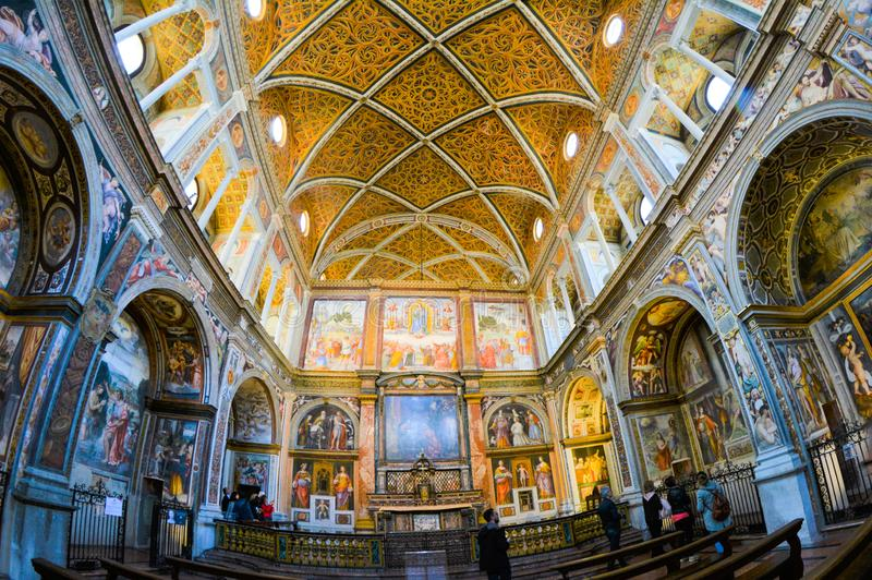 Kyrka av San Maurizio al Monastero Maggiore royaltyfria foton