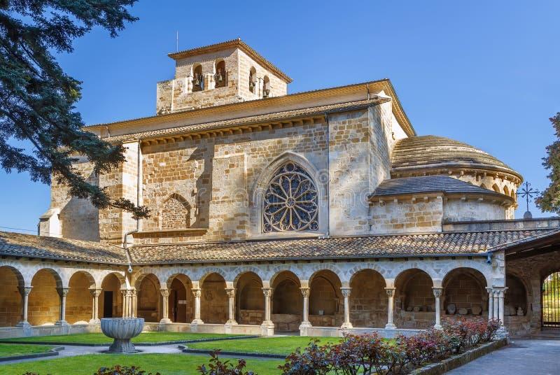 Kyrka av San Pedro de la Rua, Estella, Spanien arkivfoton