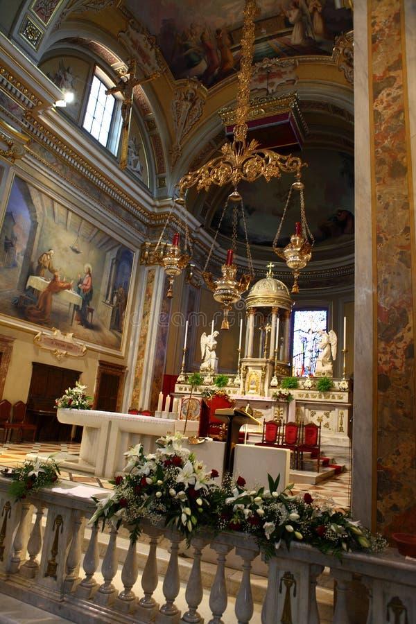 Kyrka av San Zenone i Cambiago royaltyfri fotografi