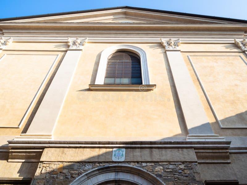 Kyrka av Sant Agata Del Carmine i den Bergamo staden arkivfoton