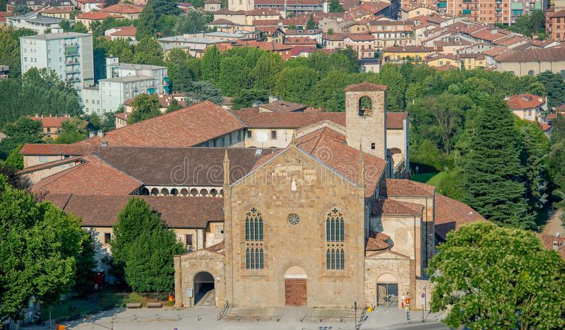 Kyrka av Sant ` Agostino royaltyfria bilder