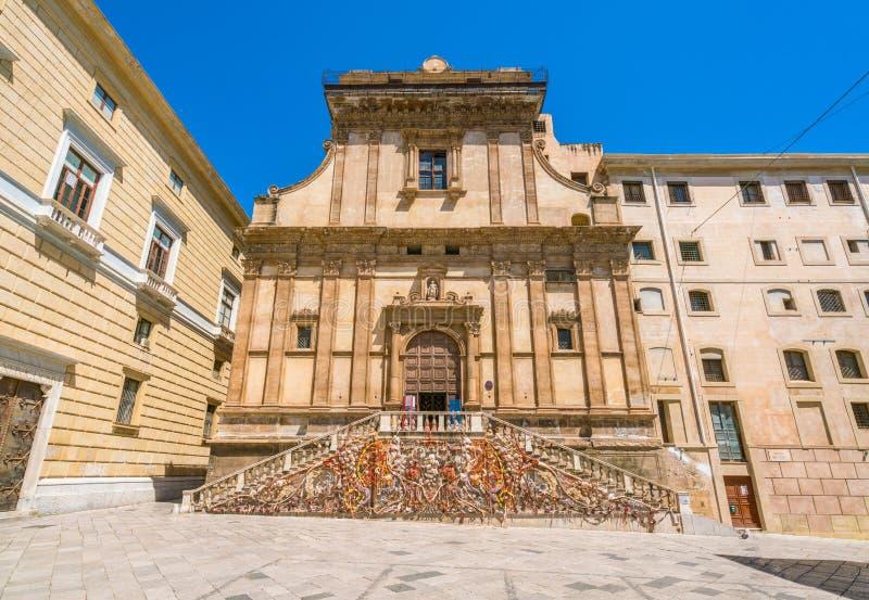 Kyrka av Santa Caterina i Palermo på en solig dag Sicilien sydliga Italien royaltyfria bilder
