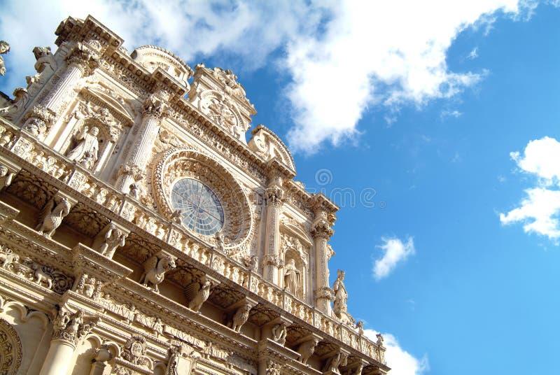 Kyrka av Santa Croce i Lecce, Italien fotografering för bildbyråer