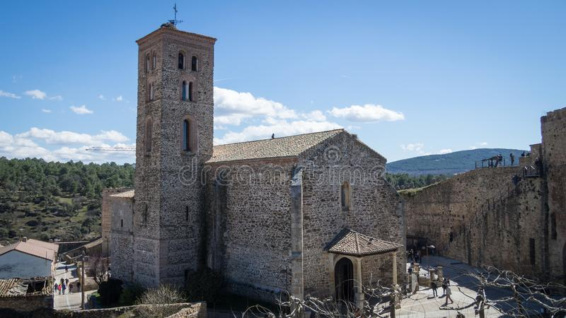 Kyrka av Santa Maria del Castillo royaltyfri bild