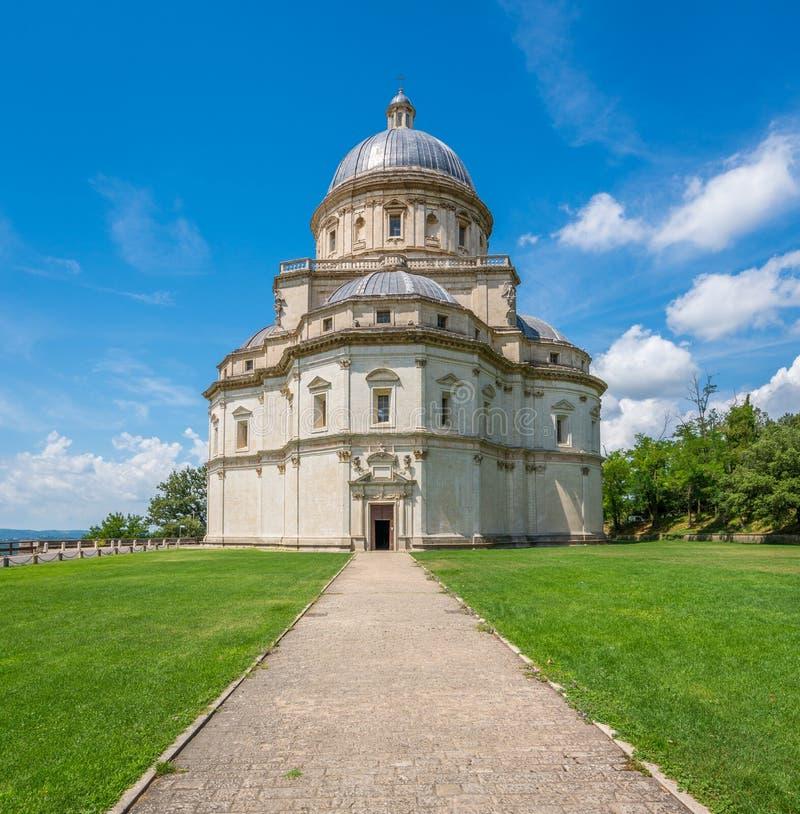 Kyrka av Santa Maria della Consolazione i Todi, landskap av Perugia, Umbria, Italien royaltyfri fotografi