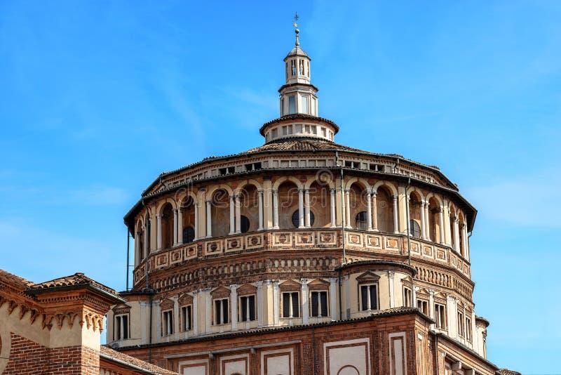 Kyrka av Santa Maria delle Grazie - Milan Italy arkivfoto