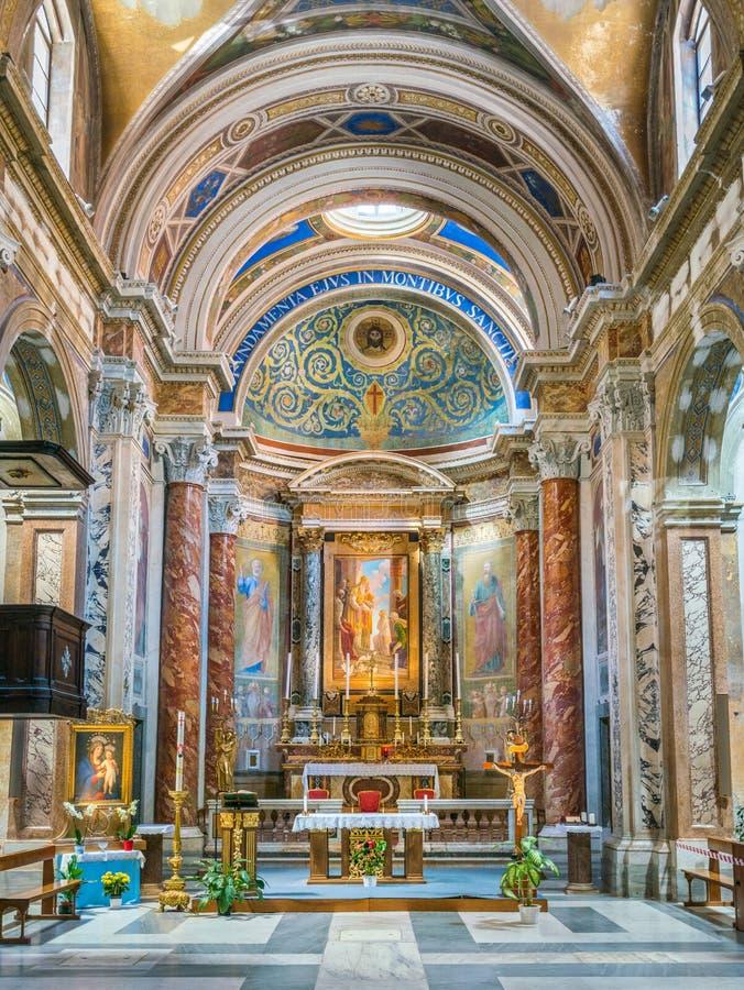 Kyrka av Santa Maria i Monticelli, i rionen Regola i Rome, Italien royaltyfri bild
