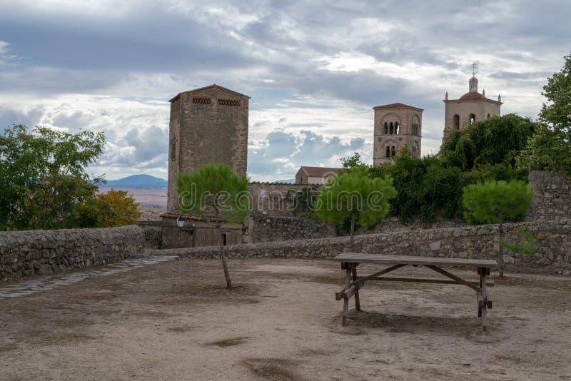Kyrka av Santa Maria la Mayor (Trujillo, Spanien arkivbilder