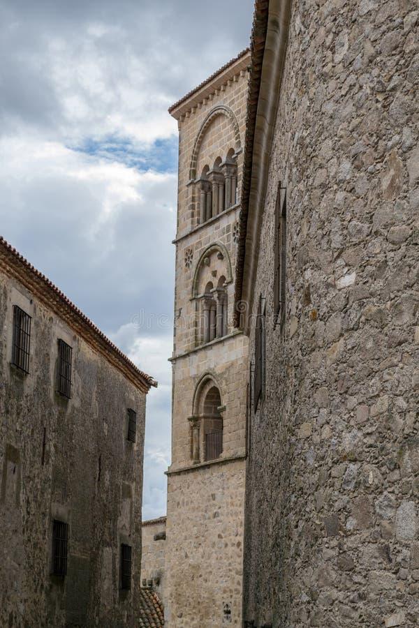 Kyrka av Santa Maria la Mayor (Trujillo, Spanien royaltyfria foton