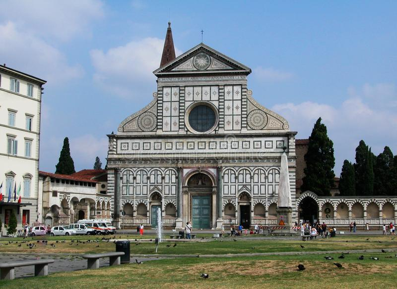 Kyrka av Santa Maria Novella i Florence, Tuscany, Italien arkivbilder
