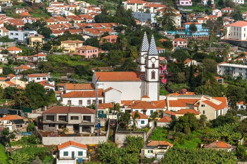 Kyrka av Santo Antonio i Funchal, ö madeira, Portugal arkivfoto