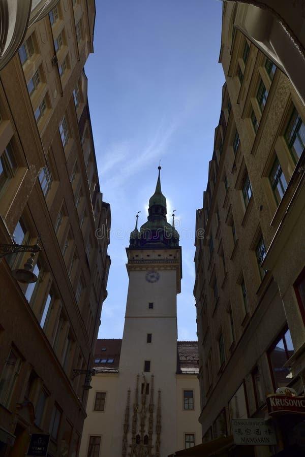 Kyrka av St-ärkeängeln Michael i Brno royaltyfria foton