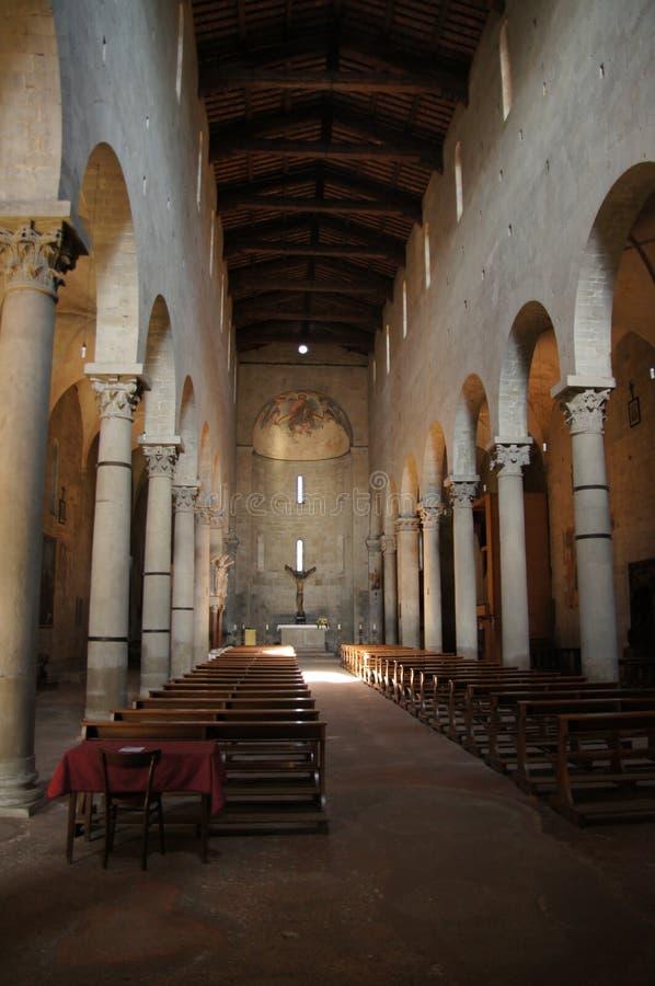 Kyrka av St Andrea, Pistoia, Italien arkivfoton
