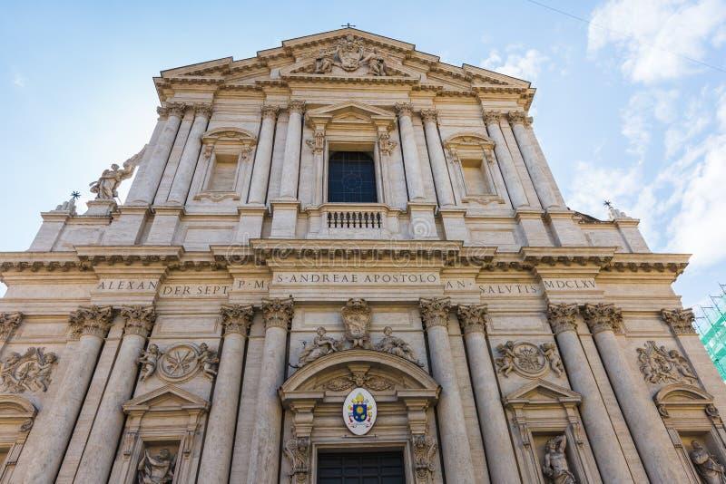 Kyrka av St Andrew av dalen i Rome, Italien royaltyfri foto