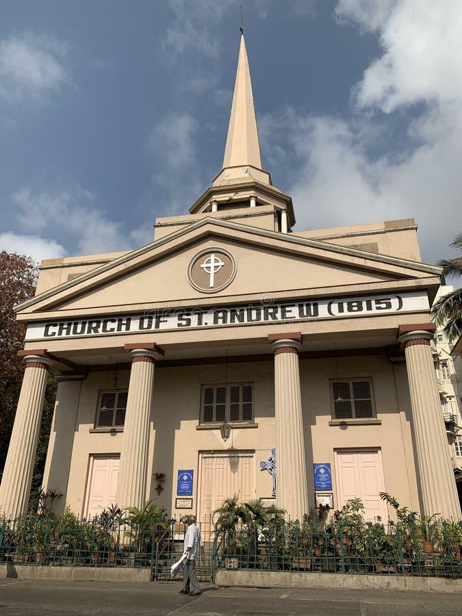 Kyrka av St Andrew 1815, skotsk kyrka, fotografering för bildbyråer