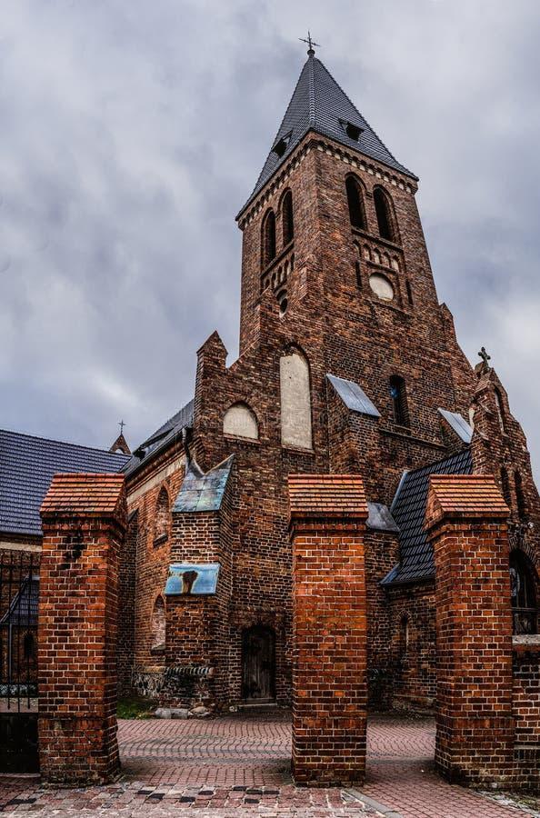Kyrka av St Anne i Sztum, Polen arkivfoton