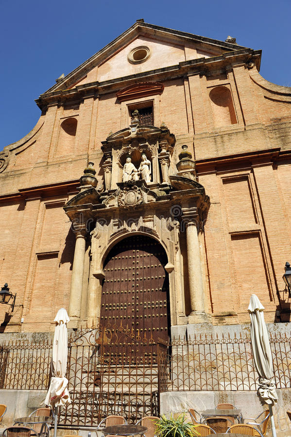 Kyrka av St Anne och Saint Joseph, Cordoba, Andalusia, Spanien royaltyfri foto