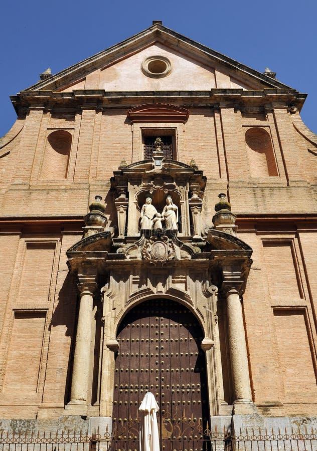 Kyrka av St Anne och Saint Joseph, Cordoba, Andalusia, Spanien fotografering för bildbyråer